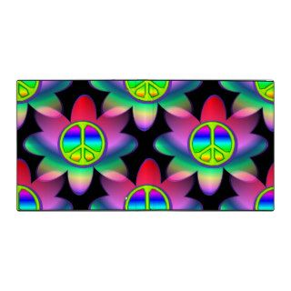 Flower Power Peace Sign Binder