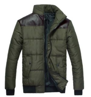 Men's Casual Winter Cotton Coats Jakcets for Slim Person XZ407 MY12 at  Men�s Clothing store