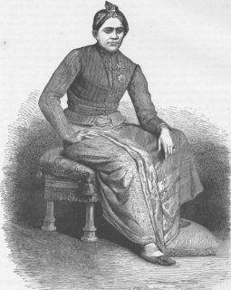 INDONESIA: The Sultan of Yogyakarta, Java (Malay), antique print 1890