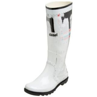 Diesel Women's Hadad Boot,White,38.5 EU (US Women's 8 M): Shoes