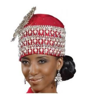 Womens Hat Ladies Red Special Occasion Designer Hat by Donna Vinci H1437 Clothing