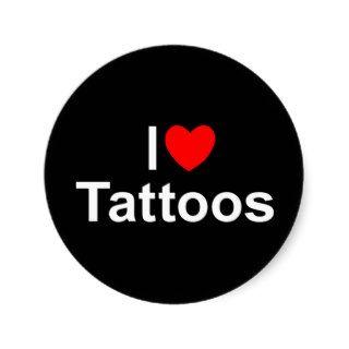 I Love (Heart) Tattoos Sticker