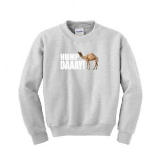 Hump Day Camel Wednesday Youth Crewneck Sweatshirt Small Ash: Clothing