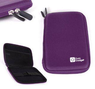 "DURAGADGET Rigid Purple Zip Case With Elasticated Inner Strap & Netted Accessory Holder For Polaroid MIDC408, Samsung Galaxy tab 3. 8"", LG G Pad 8.3"", Polaroid 8"" Tablet Diamond, Hisense M470 7"", CNC T80215 Computers & Accessor"