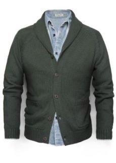 H.E. By Mango Men's Cotton Shawl Collar Cardigan, Fossil Vigore Tejido, Xs at  Men�s Clothing store