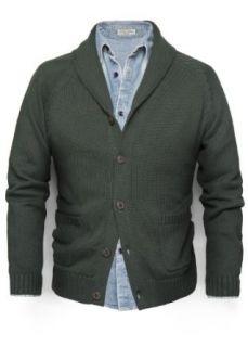 H.E. By Mango Men's Cotton Shawl Collar Cardigan, Fossil Vigore Tejido, Xs at  Men�s Clothing store