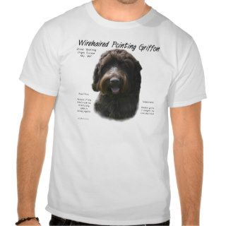 Wirehaired Pointing Griffon History Design T Shirt