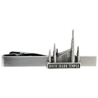 LDS Boise Idaho Temple Silver Steel Tie Bar   Tie Clip   Priesthood Gift, LDS Missionary, Tie Clip: Jewelry