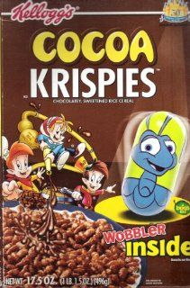 Kellogg's Cocoa Krispies   17.5 oz. empty cereal box   featuring 'A Bug's Life' w/Daisy Duck wobbler: Everything Else