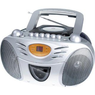 jWin JXCD428 Portable CD AM/FM Stereo Cassette  Boomboxes   Players & Accessories