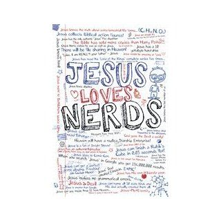 Jesus Loves Nerds Christian Motivational Text Poster (24 x 36 inches)   Prints