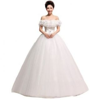 CruccoTM the Decal That Wipe a Bosom Noble Simple Clipping Wedding Dress 2013 w 010: Clothing