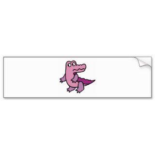 Alligator Crocodile Gator Croc Cartoon Caricature Bumper Stickers