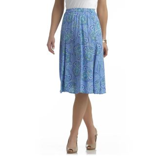Jaclyn Smith Womens Plus Godet Crinkle Skirt   Floral   Clothing   Womens Plus   Skirts