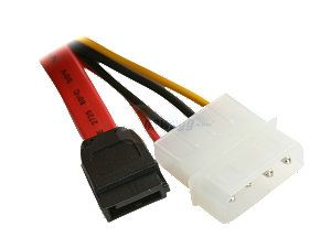 Nippon Labs SATA II Cable 0.5M SATA 2 Cable with Data & Power Combo Model: SATA 0.5 COMBO   Retail