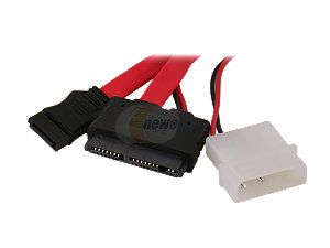 "BYTECC SATA MP118 18"" SATA and Micro SATA Power 7+9pin Cable for Micro SATA Hard Drive"