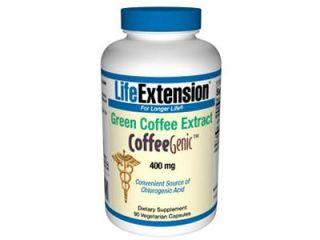 CoffeeGenic  Green Coffee Extract, 400 mg, 90 vegetarian capsules