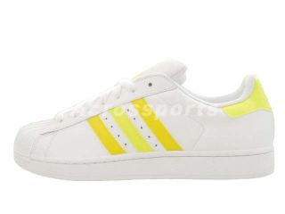 Adidas Originals Superstar II 2 White Yellow Mens Womens Casual Shoes Q20635   US Size 10