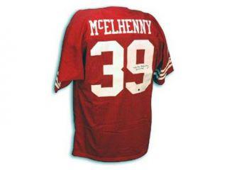Hugh McElhenny Signed San Francisco 49ers Throwback Jersey   HOF