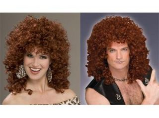 80s Rocker Hair Band Diva Curly Halloween Costume Wig