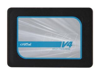 """Crucial V4 CT128V4SSD2BAA 2.5"""" 128GB SATA II MLC Internal Solid State Drive (SSD) with Easy Desktop Install Kit"""