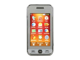 """Samsung Star Silver Unlocked GSM Touch Screen Phone w/ 3.2MP Camera / 3"""" Touch Screen (S5230)"""