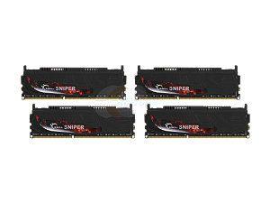 G.SKILL Sniper Gaming Series 16GB (4 x 4GB) 240 Pin DDR3 SDRAM DDR3 2133 (PC3 17000) Desktop Memory Model F3 17000CL9Q 16GBSR
