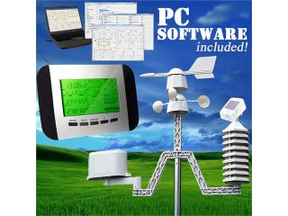 Dr. Tech Pro Wireless Weather Station w/ PC Software + Solar Powered Transmitter
