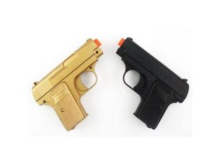 James Bond TWIN Pocket Pistols 180 FPS (Gold and Black) Airsoft Pistols Airsoft Guns