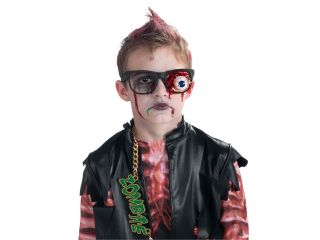 Kids Boys Girls Funny Gross Zombie Costume Eyeball Glasses