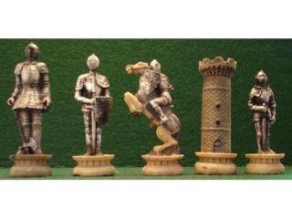 Medieval Knights in Armor Chess Set