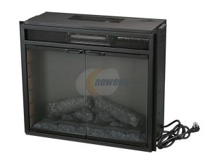ClassicFlame Electric Fireplace Fixed Front insert with Backlit Display, with remote Black 23EF025GRA