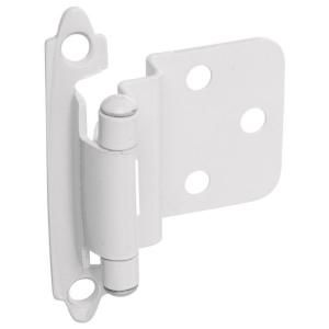 Stanley National Hardware Standard Spring Cabinet Hinge in White BB8195 SPR CAB HNG OFS W