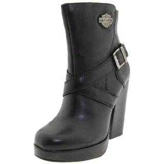 Harley Davidson Darla Ankle Boots Womens   Black Shoes