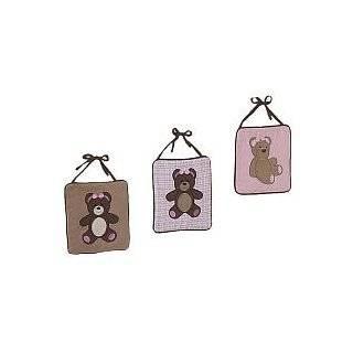 Pink and Chocolate Teddy Bear Girls Lamp Shade by JoJo